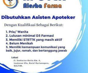 lowongan Apotek Alesha Farma