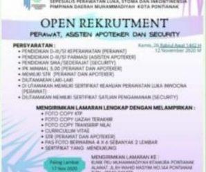 Lowongan Kerja di Klinik PKU Muhammadiyah Pontianak